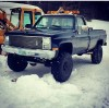 1987 gmc pickup lifted 137xxx original miles
